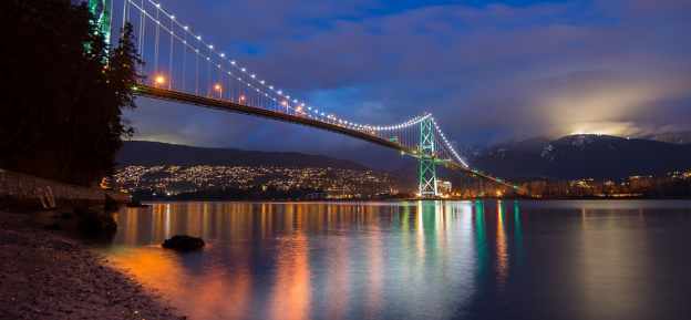 View the Lions Gate Bridge in Vancouver